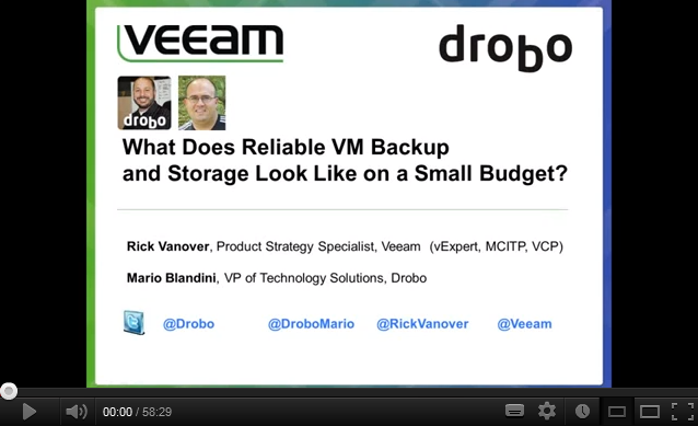 What does reliable VM Backup and Storage look like on a Small Budget?
